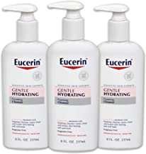 Eucerin Sensitive Skin Gentle Hydrating Cleanser, 8 Ounce (Pack of 3)