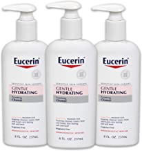 Eucerin Gentle Hydrating Foaming Cleanser - Fragrance Free, Gentle Facial Cleansing - 8 fl. oz. Pump Bottle (Pack of 3)