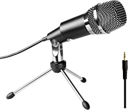 FIFINE PC Microphone 3.5mm Plug and Play Microphones for Computer Desktop Laptop Online Chat, Broadcast Microphone for Skype,YouTube,Google Voice Search, Games-K667