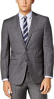 Slim Fit 100% Wool 2 Piece Men's Set Suit Sharkskin...