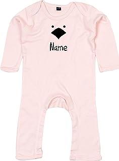 Kleckerliese Baby Strampler Schlafanzug Overall Sprüche Jungen Mädchen Motiv Tiere Küken Huhn Wunschname