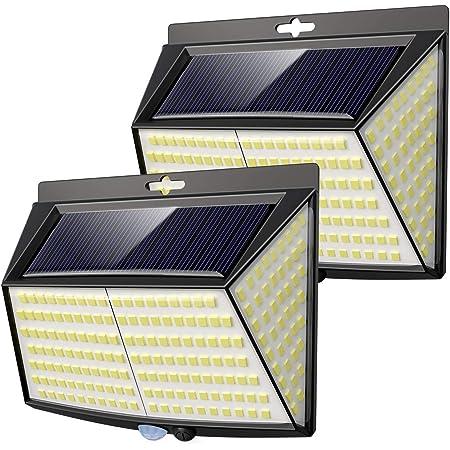 228 Led Solar Security Light,【2 Pack 】Solar Lights Outdoor Garden Fence Lights 270° Wide Angle Solar Motion Sensor Lights Outdoor Waterproof 3 Modes Solar Wall Light for Patio, Garage, Yard,Pathway