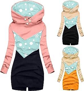 YfiDSJFGJ Crew Neck Sweatershirt Women Sweatshirt Sweatshirt Hooded Jacket Long Sweater Dress for Women