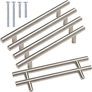 Gobrico Brushed Nickel Cabinet Hardware Euro Style Bar Cabinet Handles Drawer Pulls Satin Nickel- 5