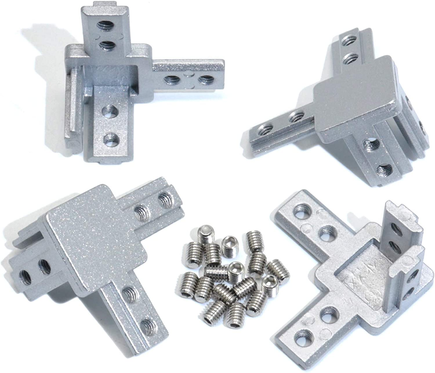 KOOTANS 4pcs 3030 Series 3 Outlet sale feature Way Bracket End Spasm price Corner with Connector