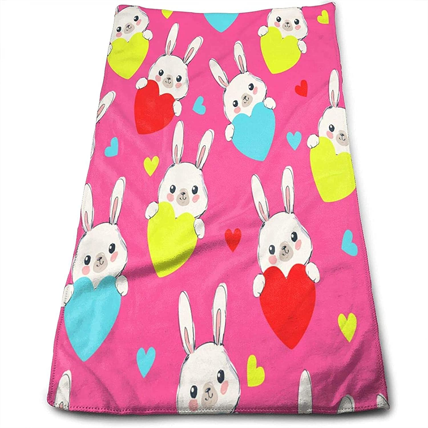 Epushow Absorbent Colorful Handkerchief A surprise price is New Orleans Mall realized Hea Rabbit Hand-Painted