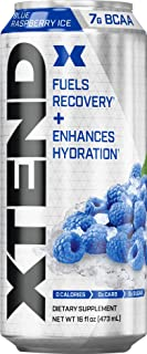 Scivation XTEND Carbonated Zero Sugar Hydration & Recovery Drink, Branched Chain Amino Acids, Electrolytes + Performance B...