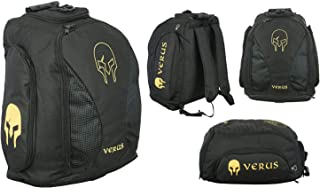 Verus Adjustable Double Shoulder Sports Carry Gym Backpack (Gold/Black)