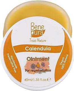 Natürliche Ringelblumen Salbe 40ml, kaltgepresstes Öl Extrakt, 100% natürlich - heilt Wunden, Prellungen, Verbrennungen - reines Naturkonzentrat - handgefertigt in der EU