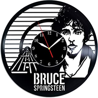 Bruce Springsteen Wall Clock Made Of Vinyl Record Handmade Home Decor Original Gift Idea for Birthday Anniversary Christmas
