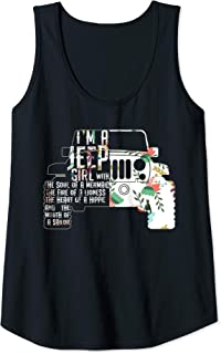 Womens Jeep Girl Lover Hippie Gift Racer Tank Top