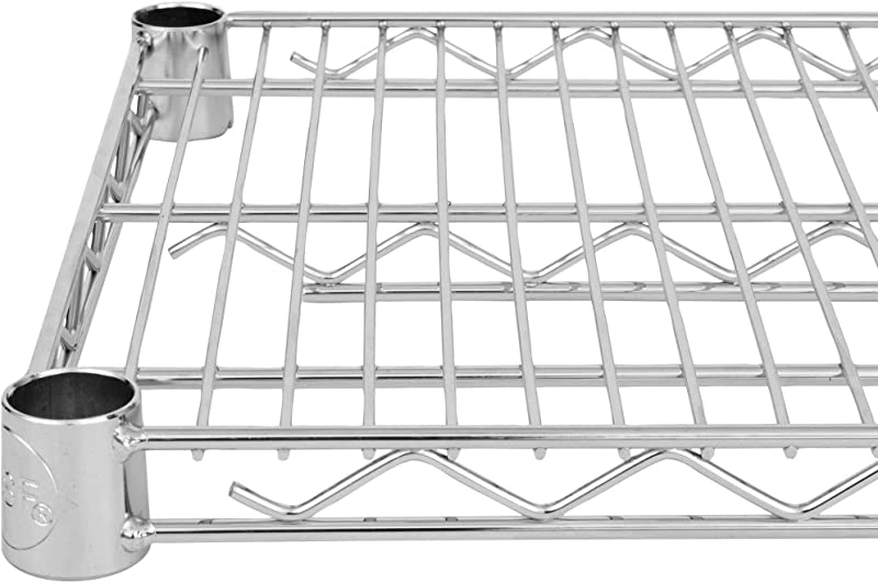 Commercial Chrome Wire Shelving 24 X 24 NSF 2 Shelves