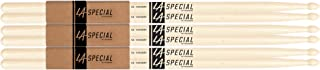 """Promark LA Specials 5A Hickory Drumsticks (3 Pairs) – 16"""" Long, .551"""" Diameter, Oval Shaped Wood Tip – Great Response and Rebound – Versatile and Affordable - For Acoustic or Electronic Drums"""