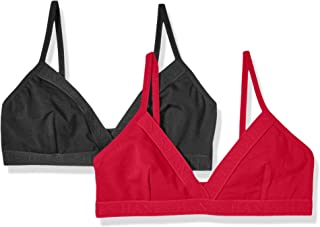 Women's Casual Comfort Logo Wirefree Triangle Bra 2-Pack