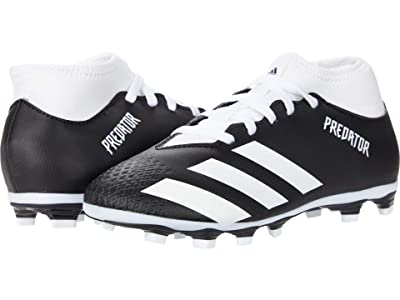 adidas Kids Predator 20.4 S FxG J Soccer (Little Kid/Big Kid) (Core Black/Footwear White/Core Black) Kids Shoes