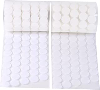 Vkey 2cm Diameter Sticky Back Coins Hook & Loop Self Adhesive Dots Tapes White (750pairs)