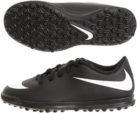 76a202bf8abdb Nike Jr Bravatax II TF, Chaussures de Football Mixte Enfant, Noir (Black/