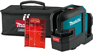 Makita SK105DZ 12V Max Li-Ion CXT Red Cross Line Laser Supplied in A Carry Pouch - Batteries and Charger Not Included