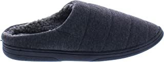 Revo Footwear Abe Mens House Shoes,Warm Fur Lined Winter House Slippers for Men,Indoor Outdoor