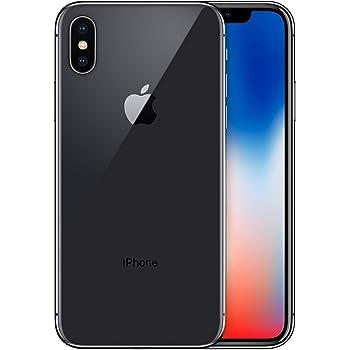 Apple iPhone X, 64GB, Space Gray - Fully Unlocked (Renewed)