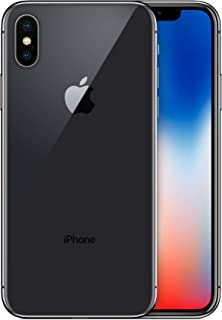 Apple iPhone X, 64GB, Space Gray - Fully Unlocked (Renewed)