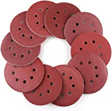 100PCS 5 Inch 8 Holes Sanding Discs - 40 60 80 100 120 180 240 320 400 800 Grit Assorted Sandpaper, Hook and Loop Random Orbital Sander Round Sand Paper by LotFancy