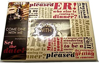 Rimi Hanger Adults Come Dine With Me Invitation Card Set Pack of 8 Unisex Invitation Cards One Size
