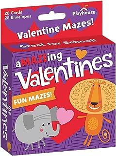 Playhouse A-Maze-ing Animals Maze Game 28 Card Valentine Exchange Box for Kids