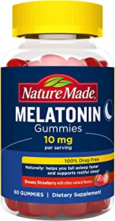 Nature Made Melatonin 10 mg Gummies, 60 Count of Melatonin Gummies for Supporting Restful Sleep