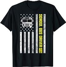 School Bus Driver American Flag Shirt, School Bus Driver T-Shirt