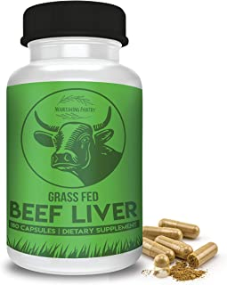 Premium Desiccated Beef Liver Capsules – Grass Fed New Zealand Beef Liver Pills Support Biohacking, Energy & Optimal Health – Heme Iron, Vitamin A, and B12-180 Capsules (30 Day Supply)