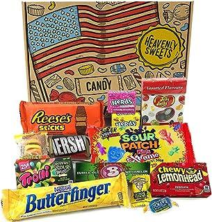 comprar comparacion Heavenly Cesta de Dulces y Chocolate Americanos - Set de Marcas Clásicas de USA, Surtidos Originales, Regalo Perfecto para...