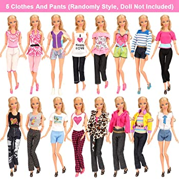 Set of 6 Ruffled Leggings For 18 inch Dolls Doll Leggings with Ruffle