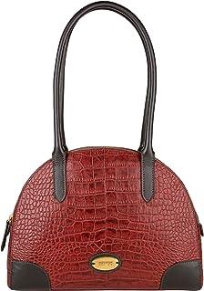 Hidesign Women's Shoulder Bag(CRO MEL RAN RED BROWN)