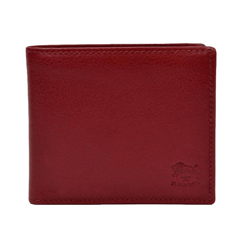利点ロデオ仲間、同僚[イルビゾンテ] 本革 二つ折り財布 [ 純正保存袋付き ] イタリア製 メンズ レザー ウォレット 財布 札入れ 小銭入れ