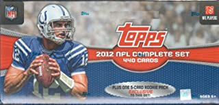 2012 Topps NFL Football Factory Sealed 445 Card Set with Rookie Cards of Andrew Luck, Russell Wilson, Nick Foles and Others Plus Stars including Tom Brady and Peyton Manning plus