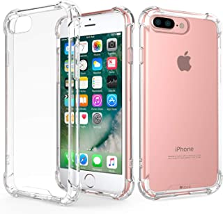 RKINC Case for Apple iPhone 7 Plus 8 Plus, Crystal Clear Reinforced Corners Soft TPU Bumper Cushion + Hybrid Rugged Soft T...