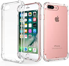 RKINC Case for Apple iPhone 7 Plus 8 Plus, Crystal Clear Reinforced Corners Soft TPU Bumper Cushion + Hybrid Rugged Hard Transparent Panel Cover for Apple iPhone 7 Plus 8 Plus