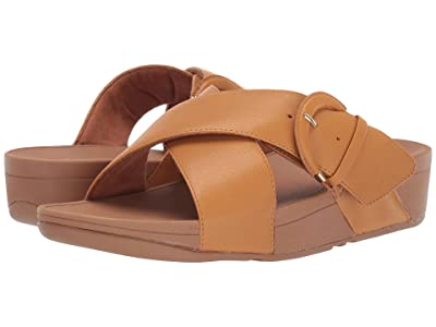 FitFlop Lulu Buckle Slides (Mustard) Women