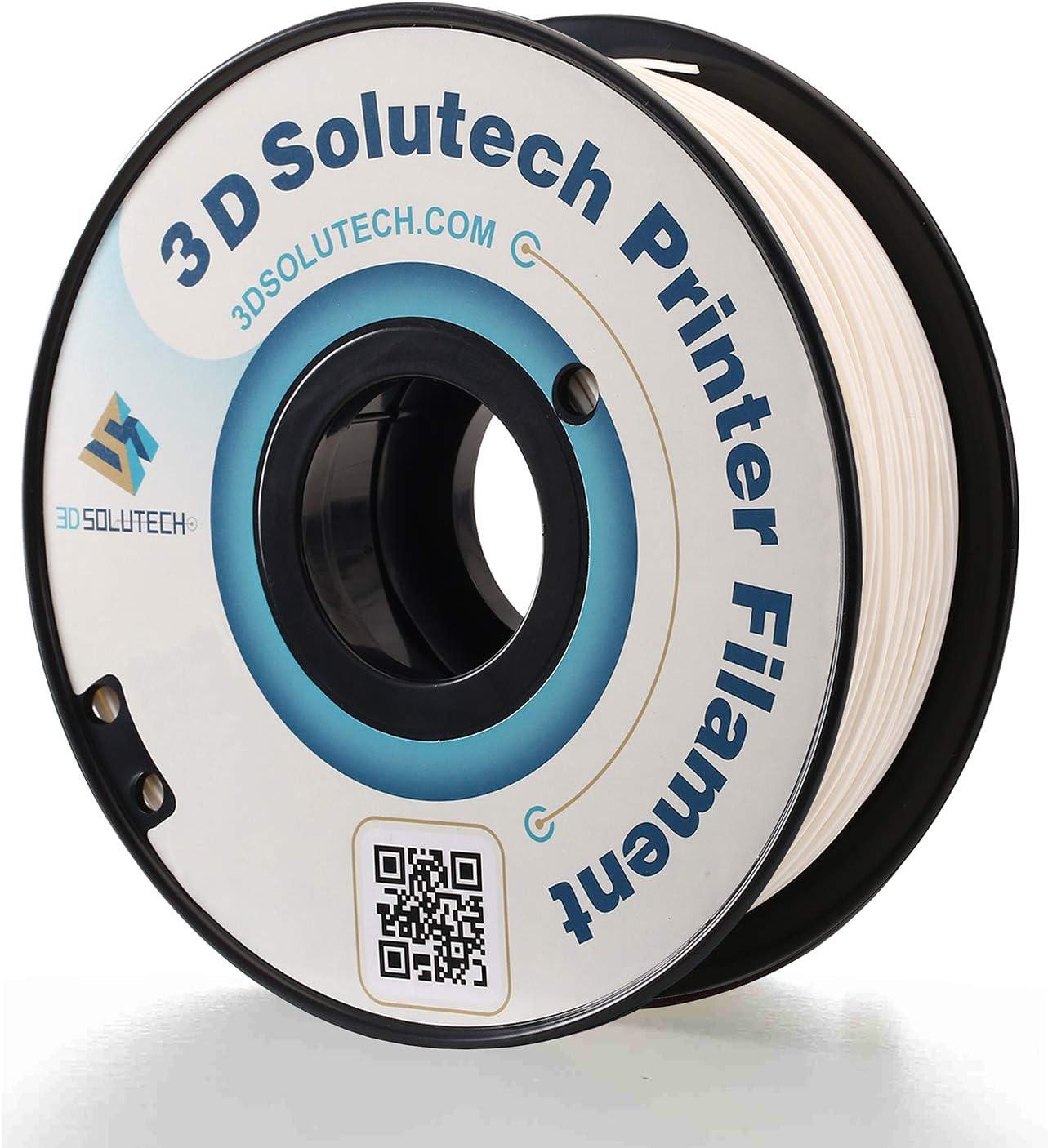 3D Solutech PETG175WHT Real White 1.75mm PETG 3D Printer Filament 2.2 LBS (1.0KG)