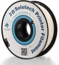 3D Solutech Real White 3D Printer PLA Filament 1.75MM Filament, Dimensional Accuracy +/- 0.03 mm, 2.2 LBS (1.0KG)