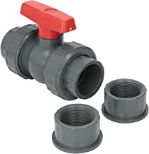 Hayward QTA1015CSEG 1-1/2-Inch Gray QTA Series True Union PVC Compact Ball Valve with EPDM O-Rings