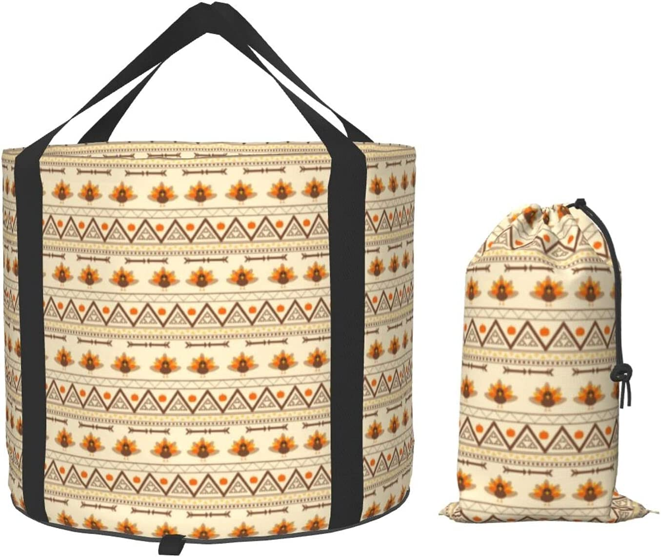 Multifunctional Portable Bargain sale Collapsible Bucket Aztec Gobble Cheap mail order sales Turkey