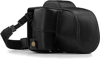 MegaGear Canon EOS M50 (15-45mm) Ever Ready läder kamerafodral med rem – svart