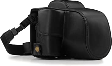 MegaGear Ever Ready Leather Camera Case Compatible with Canon EOS M50 (15-45mm)