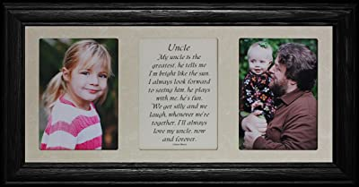 PersonalizedbyJoyceBoyce.com 7x15 Uncle Poetry & Photo 2-Opening ~ Gift for a Favorite