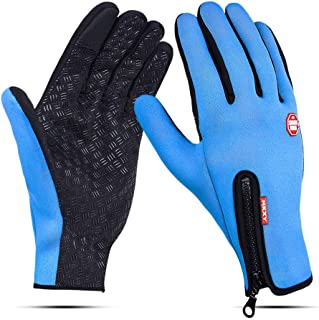 COMMINY Touchscreen Sports Winter Gloves Lightweight Outdoor Windproof Driving Liner Thin Gloves with Grip for Men Women