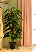 YATAI Nearly Natural Artificial Philodendron Scandens Plant 1.7 Meters High Potted Artificial Tree in Plastic Pot for Home...
