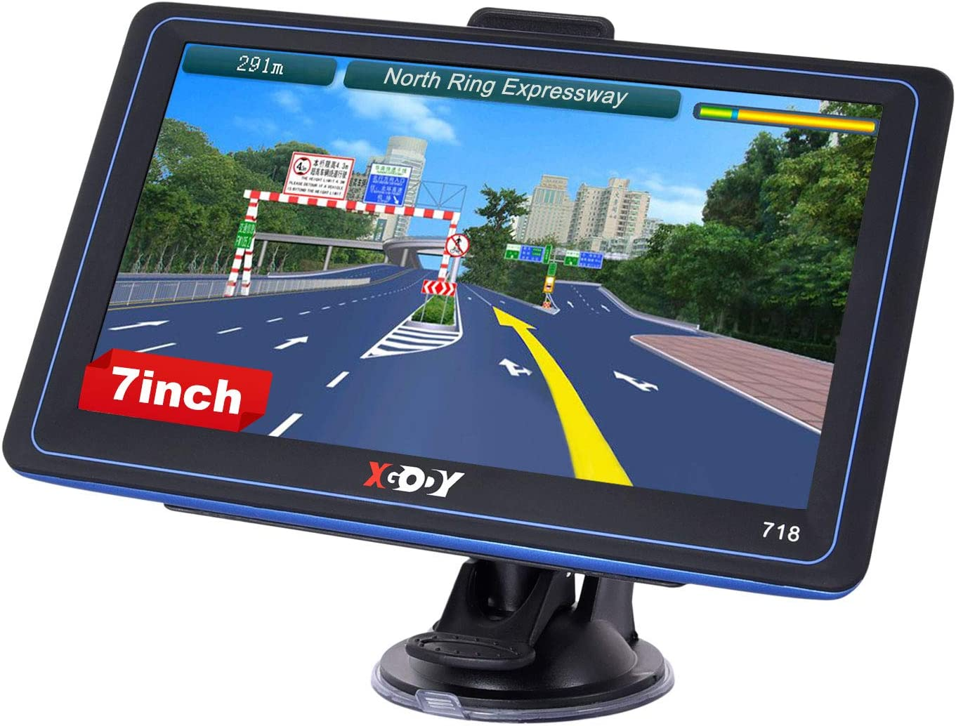 7 inch GPS Navigation for Car Xgody The Latest 2020 North American Map Satellite Navigation System, Truck GPS with Voice Turn Direction Guidance,Poi and Speed Camera Warning Free Lifetime Map Updates