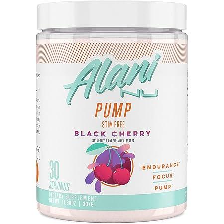 Alani Nu Pump Stim Free Pre-Workout Supplement, Black Cherry, 30 Servings